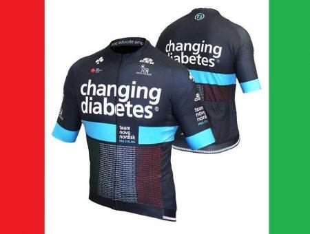 Una maglia Special Edition del Team Novo Nordisk per la Milano Sanremo 2019