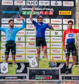 Forster adn Neff:  first bikers to wear Internazionali d'Italia Series leader jerseys