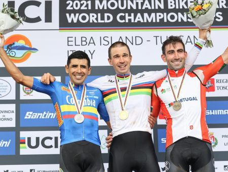 Diego Arias – team Giant Polimedical – medaglia d'argento al mondiale marathon di Capoliveri